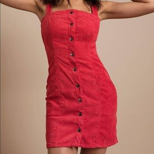 The Fifth Label Coral Pink Corduroy Dress